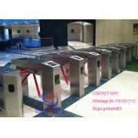 China Auto Luggage Pedestrian Barrier Gate , Three Arm Security Gate Barrier Barcode System on sale