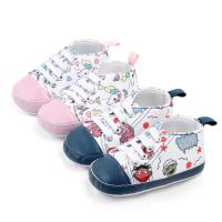 Wholesale Wholesale Cheap Cotton shoes Cartoon print prewalker boy and girl baby shoes toddler from china suppliers
