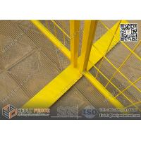 """6x9.5ft Temporary Fencing panels with Yellow Powder Coated 