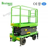 China Manual Pushing Mobile Scissor Lift Working Height 8 Meters 500Kg Loading Capacity for sale