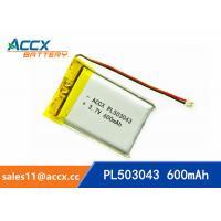 Wholesale 503043 pl503043 3.7v 600mah lithium polymer battery with pcm and jst conector battery rechargeable li-ion from china suppliers