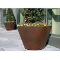 Wholesale Large Traditional Corten Steel Round Planter Various Sizes / Colors Available from china suppliers