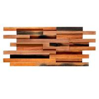 Wholesale Solid Wood Mosaic Wall Panels , Room Reclaimed Boat Wood Wall Panel from china suppliers