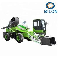 China Green Color 2.6 CBM Concrete Mixer Truck With Pump Speed 13r / Min on sale