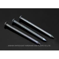 Wholesale Diamond Point Blue Finished Steel Concrete Nails Grooved Shank Flat Head from china suppliers