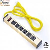 Wholesale Multi Outlet Desktop Power Strip With USB , Slim Power Bar With USB Charger from china suppliers