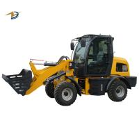 Wholesale ZL15 mini wheel loader hoflader with agricultural rubber tires option to Europe from china suppliers