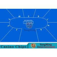 Wholesale Flexible Three Card Roulette Table Layout With Velvet Suede Fabric Surface from china suppliers