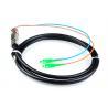 5M Waterproof SC / APC Pigtail , G652D 2 Core Single Mode Fiber Optic Cable for sale