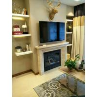 China Steel Material Corner Gas Fireplace 36 Inch , Gas Direct Vent Fireplace High Efficiency on sale