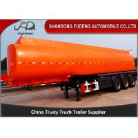 Wholesale Flammable Fuel Tanker Truck 25000 L , Fuel Tank Trailer  With 3 Compartments from china suppliers