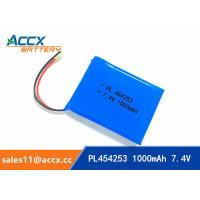 Wholesale 7.4V 1000mAh 454253 lithium polymer battery pack li-ion rechargeable battery for GPS from china suppliers