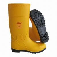 Wholesale Industrial Safety Boots with Steel Toe, Made of PVC and Easy Dried Fabric Lining from china suppliers