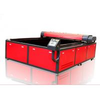 Wholesale Printed Textile Fabric Laser Cutting Machine , Vision High Speed 300w Laser Cutter from china suppliers