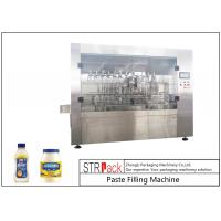 Wholesale Customized Mayonnaise / Ketchup Filling Machine , High Viscosity Piston Filler from china suppliers