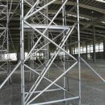 Hot Dip Galvanized Frame Scaffolding System , Strong Silver Ladder Frame