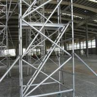 Wholesale Hot Dip Galvanized Frame Scaffolding System , Strong Silver Ladder Frame Scaffolding from china suppliers