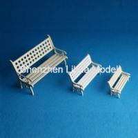 Buy cheap model park chair,model scale park  bench 1:150,Model House furniture, scale 1:50,fake park bench,white mini chairs from wholesalers