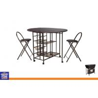 Folding Metal Dinning Table and Chairs Sets Dining Room Table Chairs With W
