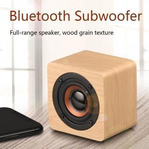 China Wooden Cabinet Material Handheld Mini  Portable Bluetooth Speaker Subwoodfer Full-range Speaker on sale