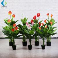 China Customized Faux Potted Plants , 1m Height Potted Artificial Calla Lily on sale