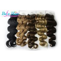 Wholesale Dark Brown / Natural Red Keratin Micro Ring Human Hair Extensions Malaysian Virgin Hair from china suppliers
