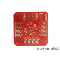 Wholesale Double Sided Heavy Copper PCB Board , Lead Free HASL Metal Backed PCB Red Solder Mask from china suppliers