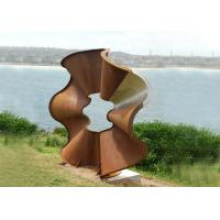 Wholesale Beautiful Flower Shape Corten Steel Sculpture Modern Style For Outdoor from china suppliers