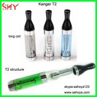 Wholesale Wholesale long Wick Colorful Original Kanger T2 EGO Clearomizer 2.4ml T2 replaceable head from china suppliers