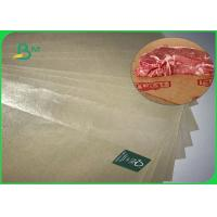China FDA Approved 60gsm 70gsm Brown Coated Butcher Paper Roll For Wrapping Meat for sale