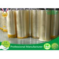 Wholesale Single Side Strong Adhesive Bopp Jumbo Roll Tape For Packing / Slitting from china suppliers