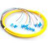 LC / UPC Fiber Optic Jumper Cables , G657A Yellow Simplex Fiber Patch Cord for sale
