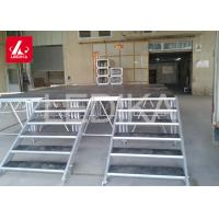 China Adjustable Aluminum Alloy Lift Stage Stairs / Lifting And Folding Stage Platform on sale