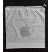 China Custom Apple Iphone Classic Drawstring Plastic Bags with PP Rope for sale