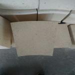 China Fan Shaped High Alumina Refractory Brick , Rotary Kiln High Temp Bricks for sale