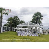 Instant Movable Metal Frame PVC Structure Luxury Wedding Tents with AC and Furniture for sale