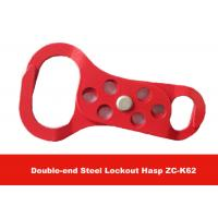 Wholesale Red Color 6pcs Padlocks Equipped  Double-end Aluminum Safety Lockout Hasp from china suppliers