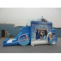 Wholesale Amazing Frozon Princess Inflatable Combo , Blue carriage Inflatable Bouncer Combo from china suppliers