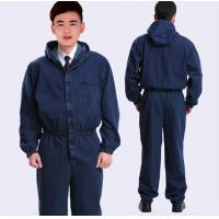 Wholesale Cotton Flame Retardant Insulated Coveralls , Acidproof Fire Protective Clothing from china suppliers