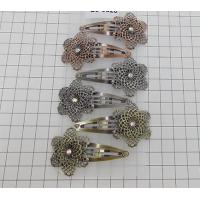 Wholesale 5cm snap clip with a metal flower in antique colors from china suppliers