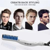 Wholesale Electric Beard Hair Comb for Men Beard Straightening Comb Curly Hair Straightening Curler Men's Professional Quick Hair from china suppliers