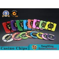 Square Crystal Acrylic Poker Chips With Custom Logo / Super Touch Texture Poker for sale
