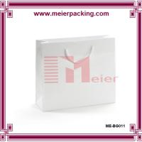 Wholesale White paper gift bags for clothing, cotton handle paper dress bag ME-BG0011 from china suppliers