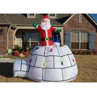 Wholesale Christmas Decorations Advertising Inflatables Big Red Santa Claus And Tent from china suppliers
