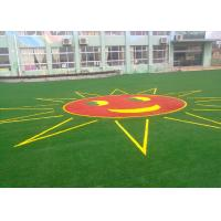 Safe And Soft Colorful Landscaping Artificial Grass For Kindergarten 25mm