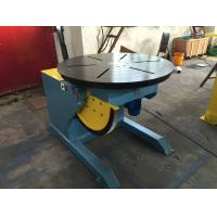 China Motorized Tilting Rotary Welding Positioner Turntable For 2 Ton Rated Load Cap on sale