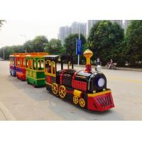 Colorful Painting Shopping Mall Train , FRP Material Trackless Train Ride