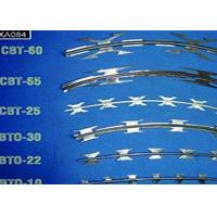 China Security Fencing Galvanized Razor Barbed Wire For Garden And Apartment on sale