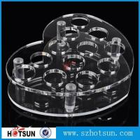 Quality acrylic beer tasting tray holder / acrylic tray cup holder / acrylic shot glass tray for bar for sale
