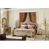 Wholesale Classic bedroom furniture Genuine leather upholstered Headboard Champagne Bed Joyful Ever from china suppliers